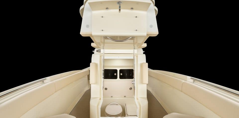 Chris Craft Catalina 27 Pilot House Front Interior Lights ON Seat UP